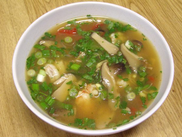 Hot and Sour Soup with Shrimp recipe