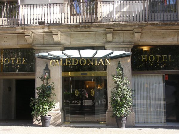 The Caledonian motel in Barcelona Spain