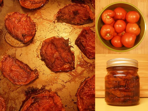 Tomatoes roasted and packed in olive oil