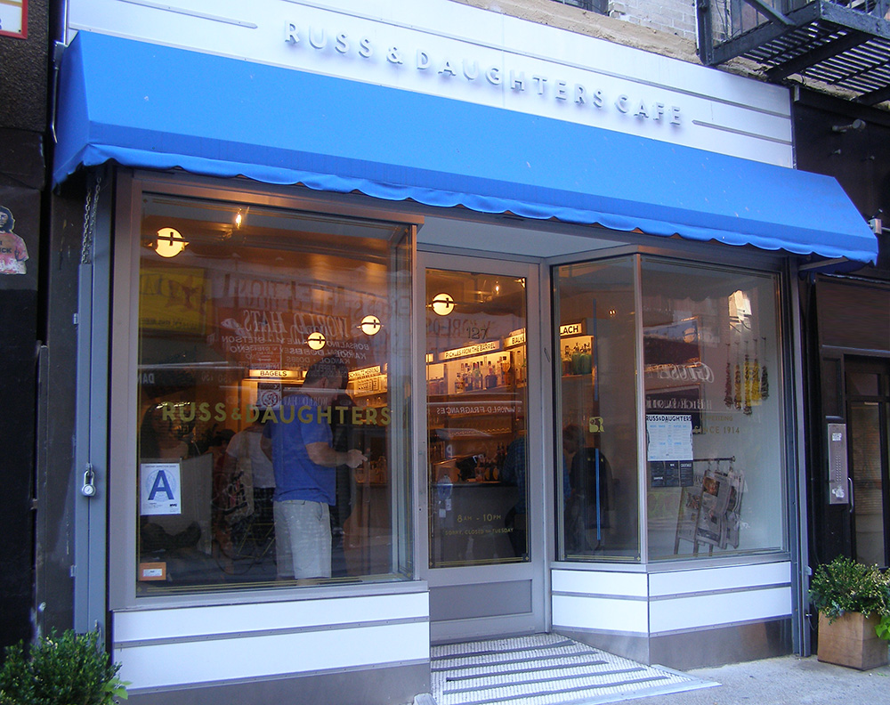 Russ and Daughters restaurant in Manhattan, New York City