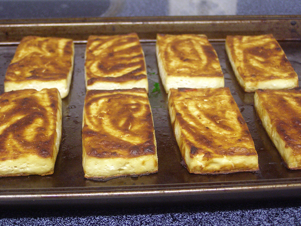 Oven-roasted tofu