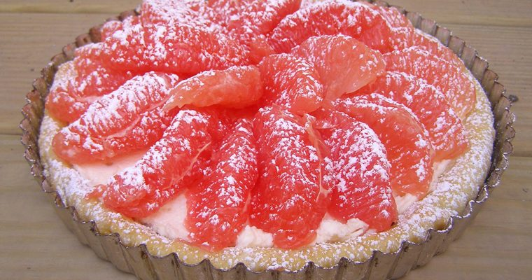 Grapefruit Tart with Homemade Mascarpone