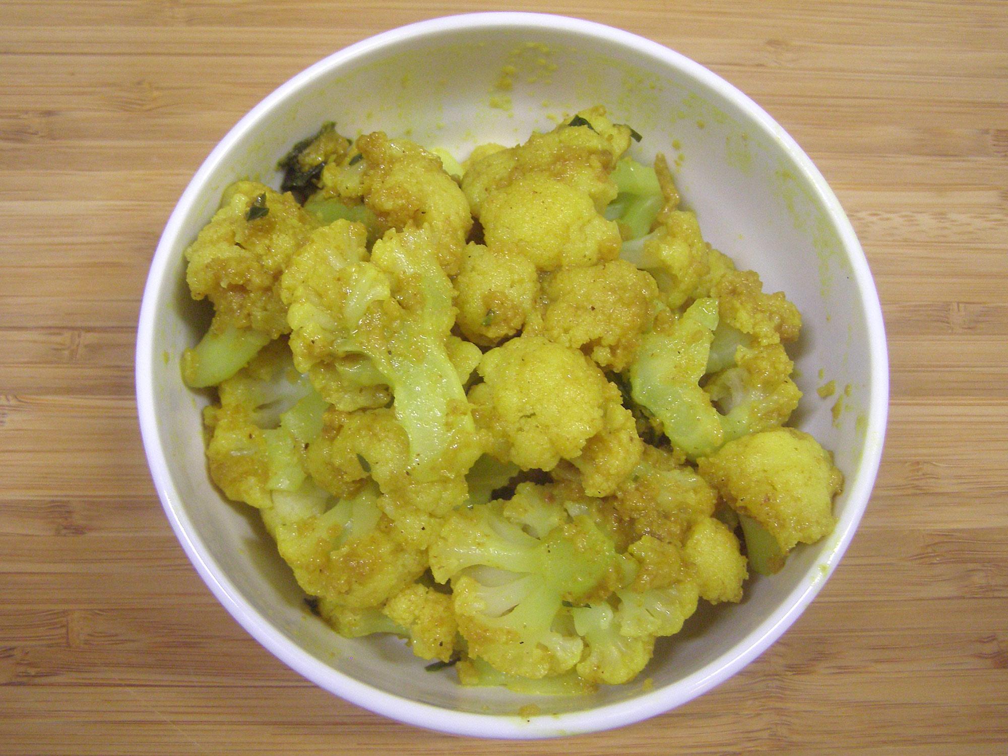 Ginger Curry Cauliflower