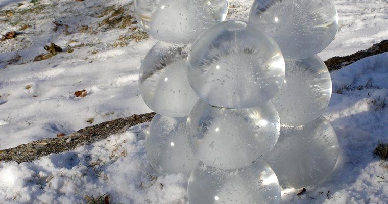 Frozen Water Balloon Sculpture