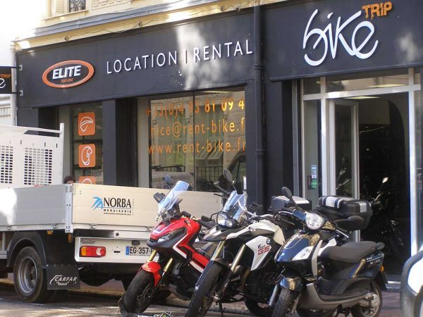 Motorcycle rental in Nice, France