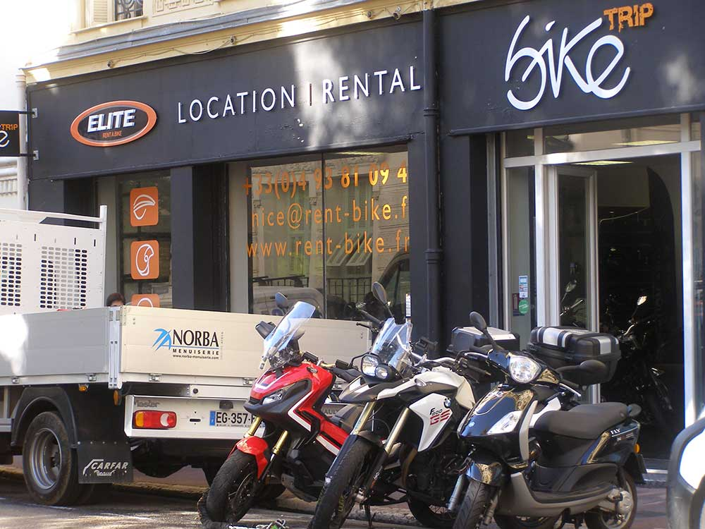Motorcycle rental in Nice, France