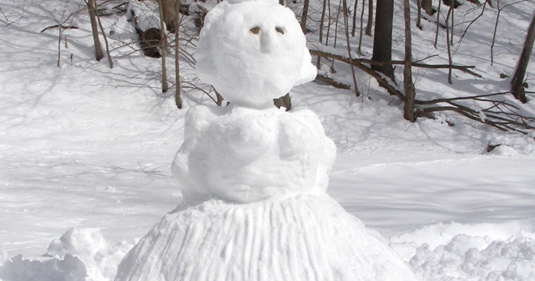 My First Snow Sculpture