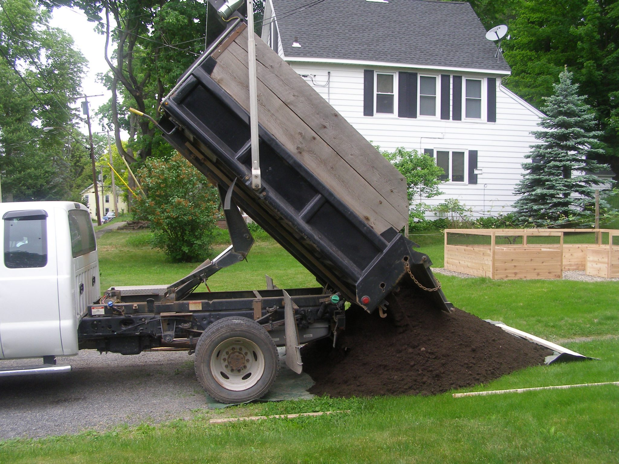 Four yards of raised bed soil delivered