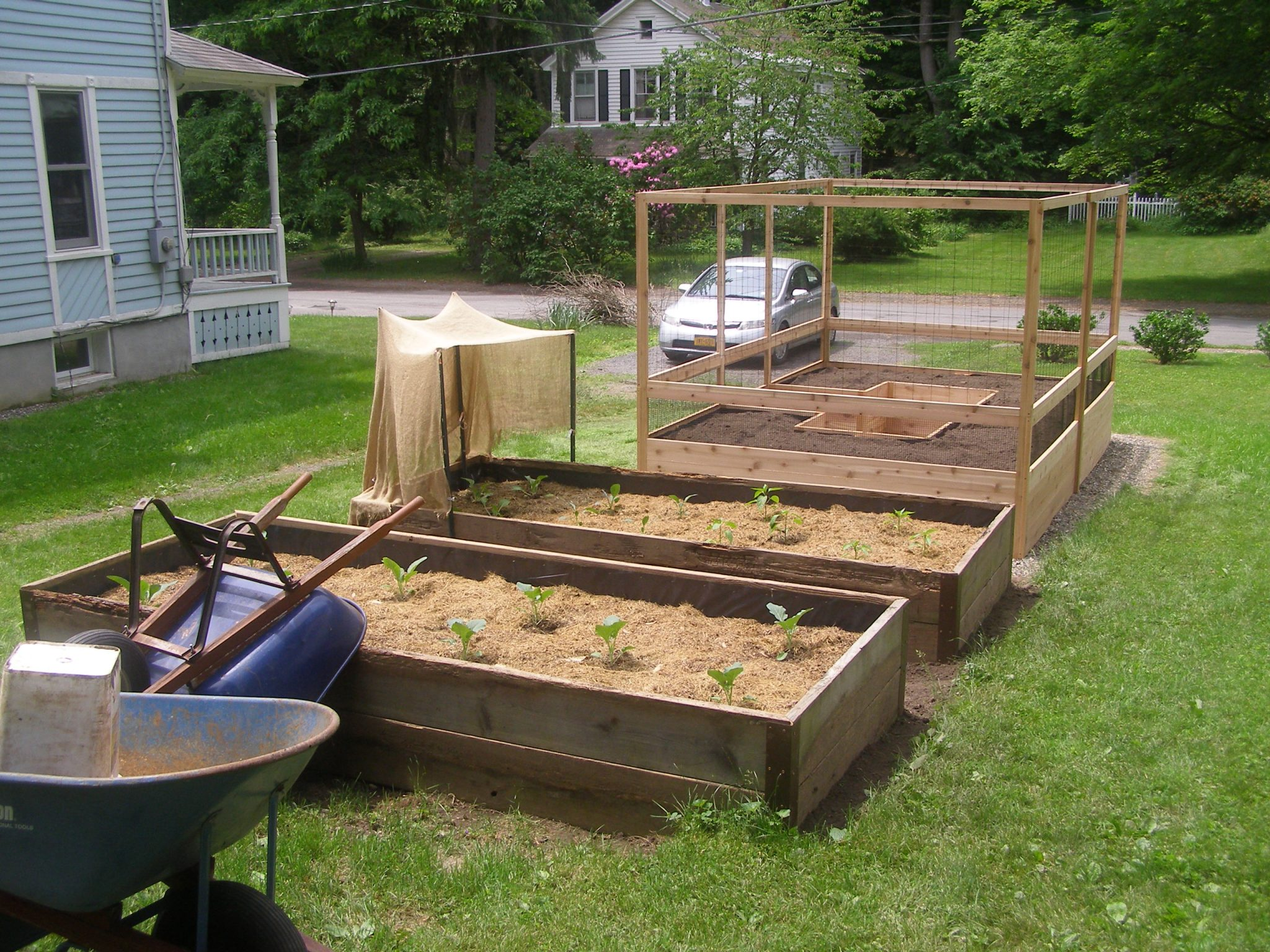 8'x12′ Vegetable Garden Kit – Deer Proof and two additional raised beds