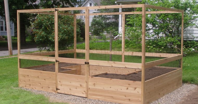 Building Our Deer-Proof Vegetable Garden Kit by Maine Kitchen Gardens and Gardens to Gro