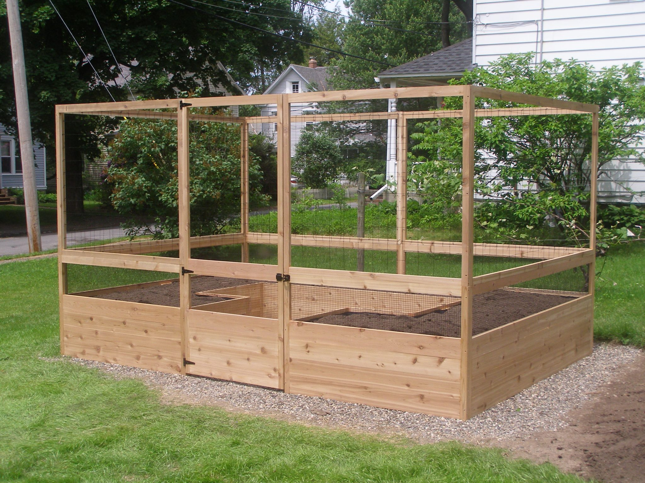 8'x12′ Vegetable Garden Kit – Deer-Proof assembled and filled with soil