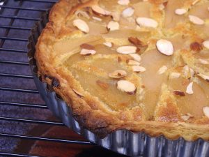 French Pair and Almond Tart