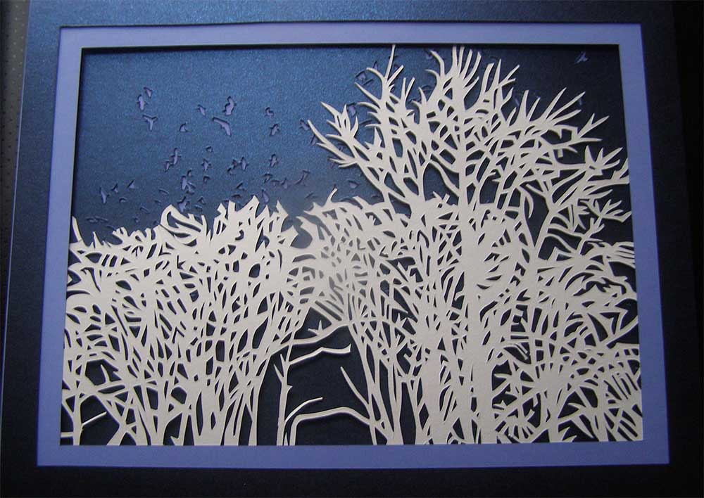 Paper cutting by Suzanne Trevellyan