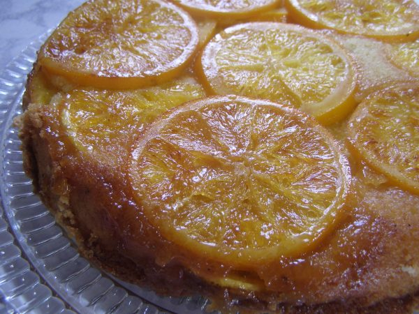 orange olive oil upside down cake