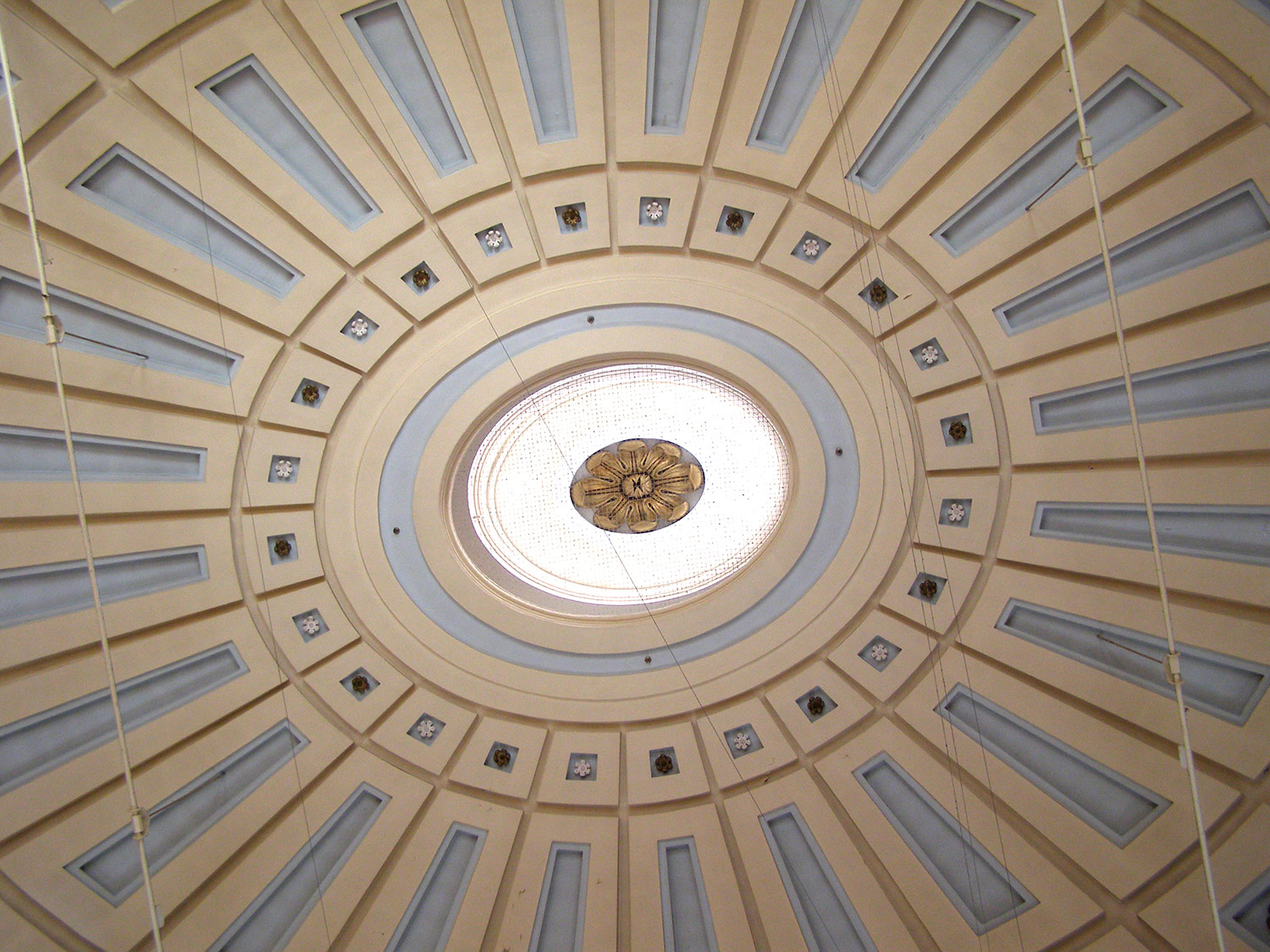 The ceiling at Quincy Market, Fanueil Hall, Boston, Massachusetts